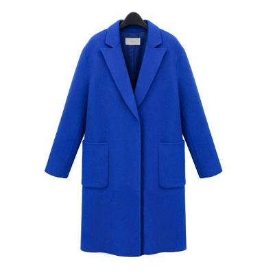 2016 новинка зимний осеннний кокон тип шерстяные пиджак женщина метров в ширину свободный куртка длина шерсть сын большой одежда царство хань волна